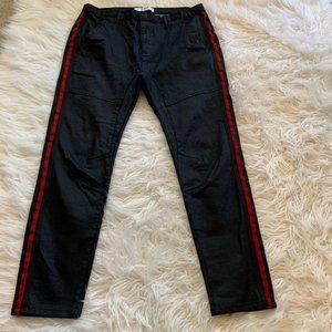 NXP Baseline Taped Slim Fit Wax Black Striped Jean
